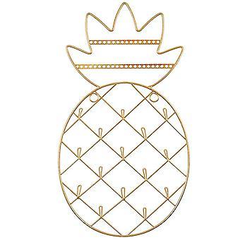 Sass & Belle guld ananas væg monteret smykker Holder
