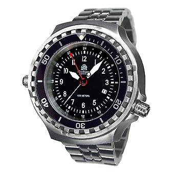Tauchmeister Xxl T0311m dive watch with steel Band 52 mm