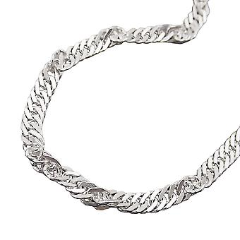 Silver chain necklace Singapore diamond 70 cm 925 Silver necklace
