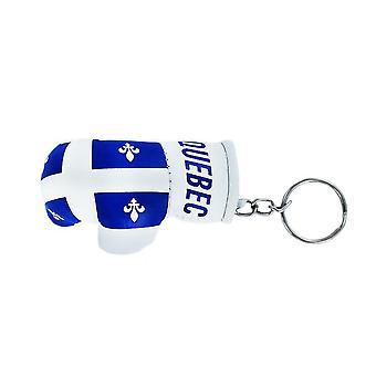 Cle Cles Keys Flag Quebec QuebecOis Boxing Glove Flag Keychain