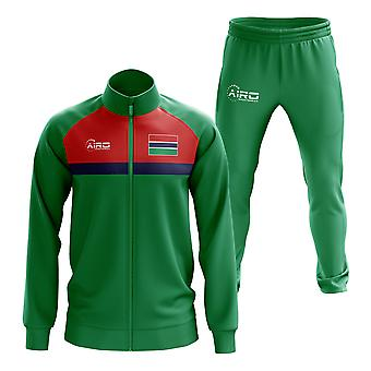 Gambia Concept Football Tracksuit (Green)