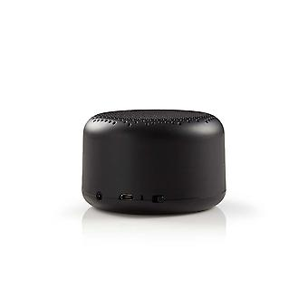 Nedis Portable Bluetooth Speaker 9W Up to 3 Hours Playtime (Black) iOS/Android/OS X/Windows