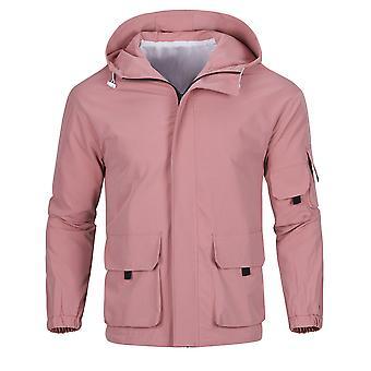 Allthemen Men's Solid Loose Hooded Casual Jacket