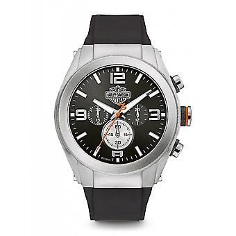 Harley Davidson 76B176 Men's Heavy Metal Wristwatch