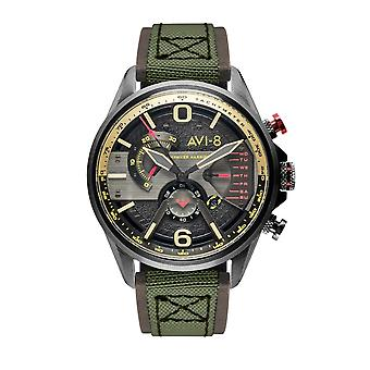 AVI-8 AV-4056-03 Hawker Harrier II Retrograde Chrono Armbanduhr