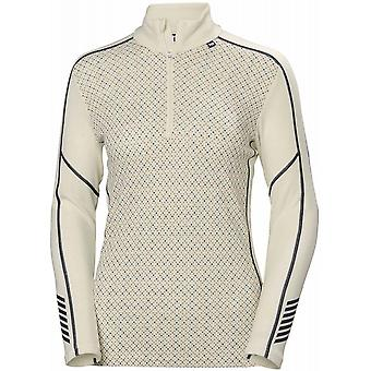 Helly Hansen kvinnor ' s LIFA merino Graphic 1/2 Zip-off vit