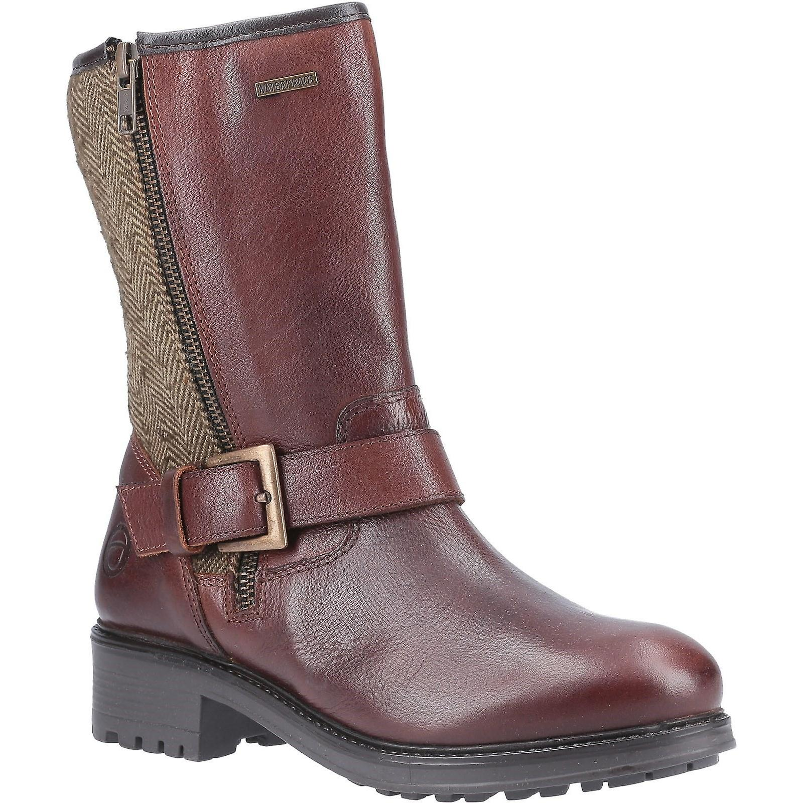 Cotswold Womens/Ladies Twigworth Leather Mid Calf Zip Boots wNaKU