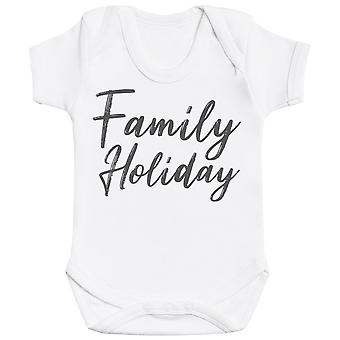 Family Holiday - Matching Set - Baby Bodysuit & Kids T-Shirt, Mum & Dad T-Shirt