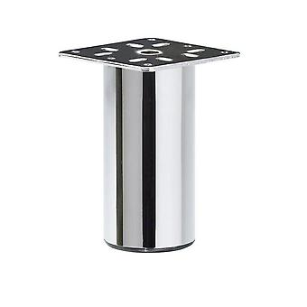 Chrome Round furniture Leg 10 cm