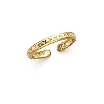 14k Yellow Gold Small Lattice Toe Ring Jewelry Gifts for Women - 1.1 Grams