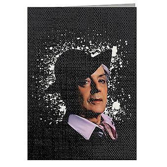 TV Times Quentin Crisp 1977 Greeting Card