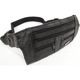 Unisex Soft Nappa Leather Bum Bag / Waist Bag / Money Belt