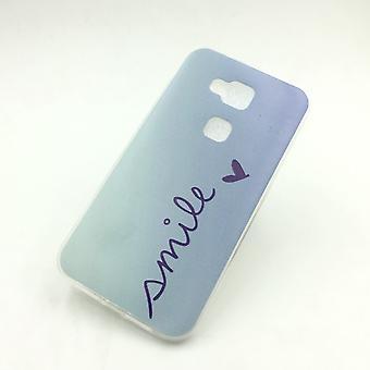 Mobile Shell voor Huawei G8 Smile Blau tas case cover SLIM TPU + 1 x tank bescherming glas