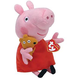 Ty UK Peppa Pig Beanie 6 cali pluszowe zabawki dla dzieci