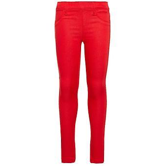 Όνομα-It Κορίτσια Κόκκινο Κολάν Παντελόνι Tinna Αληθινό Κόκκινο