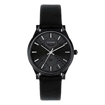 Zadig Watch-Voltaire ZVF1027-zwart lederen lederen horloge Dames stalen doos
