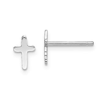 925スターリングシルバー洗練された宗教的信仰クロスポストイヤリング女性のためのジュエリーギフト
