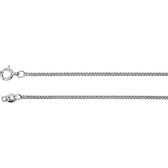 925 Sterling Silver Solid Curb Flat Chain Necklace Carded Jewelry Gifts for Women - Length: 18 to 24