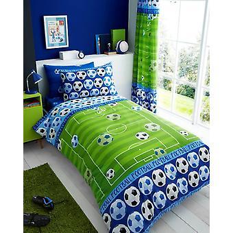 Mål blå fodbold fodbold børn enkelt dyne dækning børn Rotary sengetøj sæt