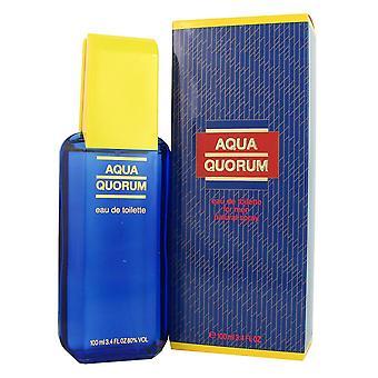 Aqua quorum for men by puig 3.4 oz eau de toilette spray fe52049