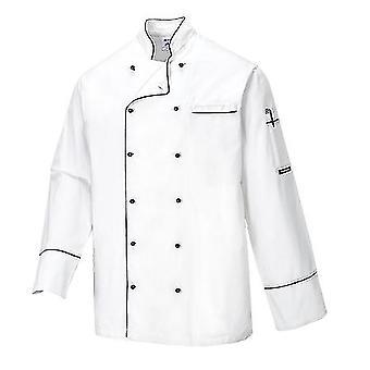 Portwest cambridge chaqueta de chefs de manga larga c775