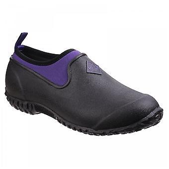 Muck Boots Ladies Black + Purple Rhs Muckster Ii Low All Purpose Lightweight Shoes
