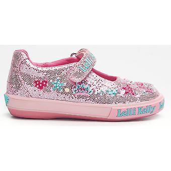 Lelli Kelly Tiara LK1078 Pink Glitter Canvas Shoes