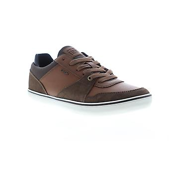 Geox U Box  Mens Brown Suede Lace Up Low Top Sneakers Shoes