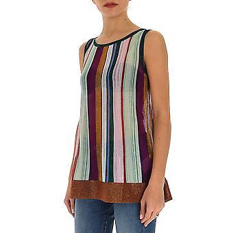Missoni Mdk00042bk00lsm21w Women's Multicolor Cotton Top
