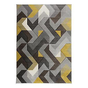 Aurora Rugs In Grey And Ochre