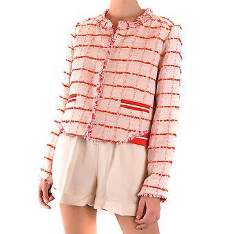 Pinko Ezbc056299 Dames's Red Cotton Blazer