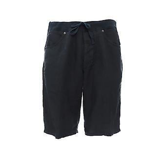 120% P0m21200000253001p0206 Men's Blue Linen Shorts