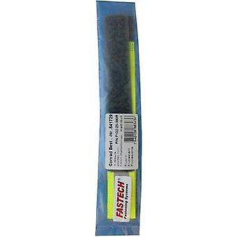 FASTECH® F102-25-380R Cinta de gancho y bucle con reflector, gancho de coser y almohadilla de bucle (L x W) 380 mm x 25 mm amarillo neón 1 ud(s)