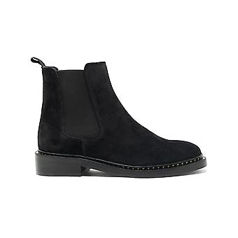 Walk london darcy star chelsea boot in black suede
