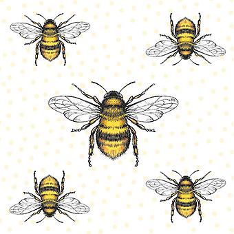 Ambiente 3 Ply Paper Napkins, Bees