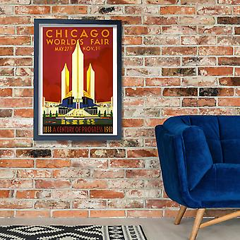 Chicago Worlds Fair 1933 Poster Print Giclee