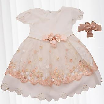Girl Dress Chic Flower Girl Party Wedding Princess Festive Elegant Bridesmaid