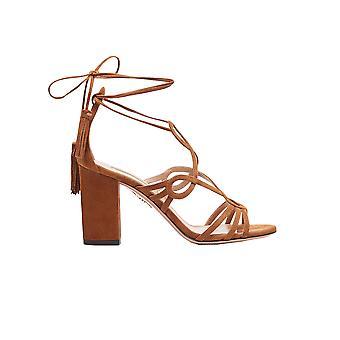 Aquazzura Gtnmids0sue993 Women's Brown Suede Sandals