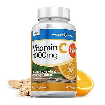 Vitamin C 1000mg Tablets, Suitable for Vegetarians and Vegans - 60 Tablets - Vitamin Supplement - Evolution Slimming
