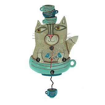 Allen Designs Teacat Pendulum Wall Clock