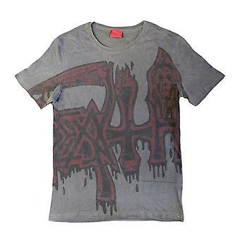 Black Death Large Red Logo Officiel Tee T-Shirt