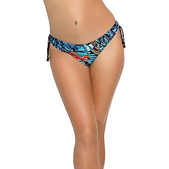 Nessa NO1 Women's Capri Blue Multicolour Floral Bikini Bottom