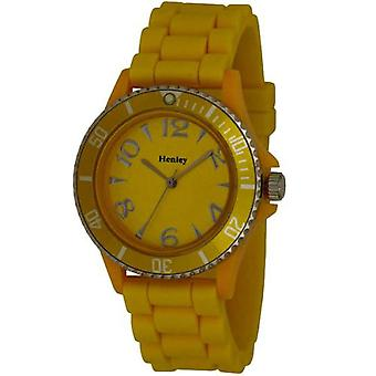 Henley Glamour Ladies Yellow Silicone Strap Sports Watch H0840.9