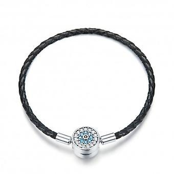 Woven Leather Charm Bracelet Mysterious Magic - 6016