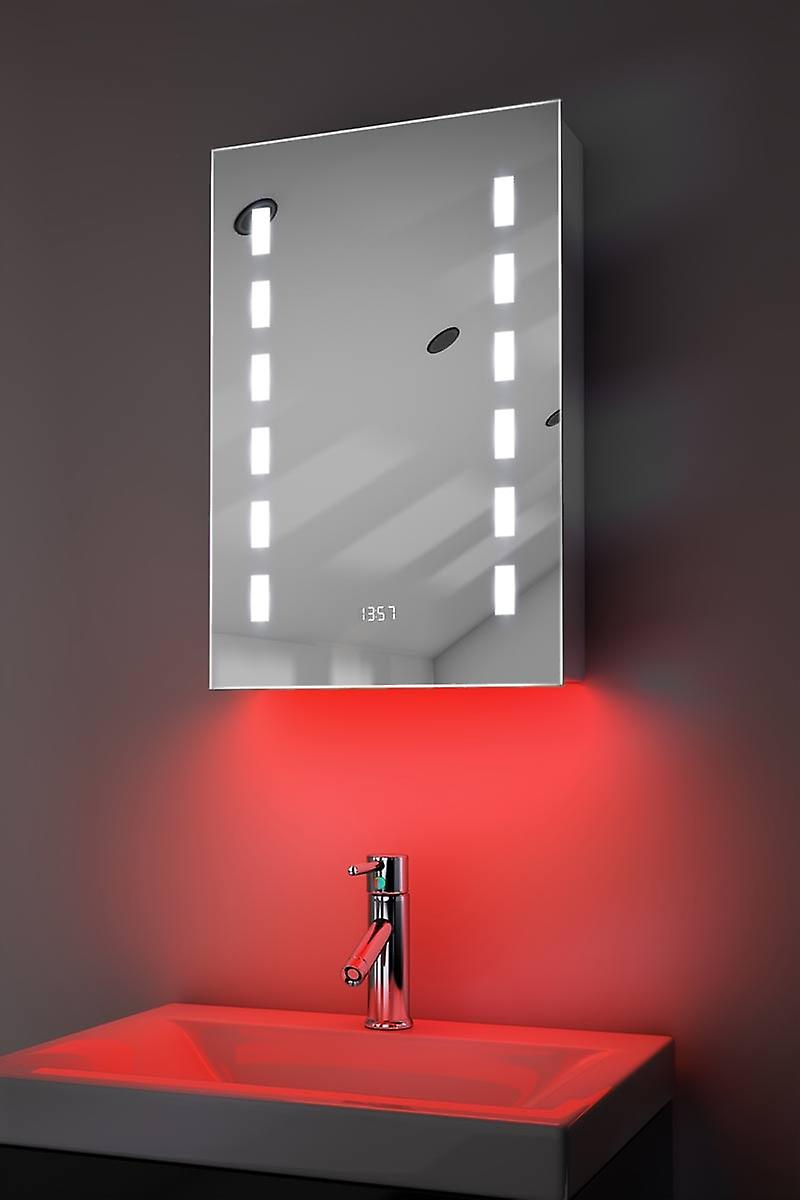 Cabinet de salle de bains audio RGB avec capteur et sockr Socket k385rgbaud