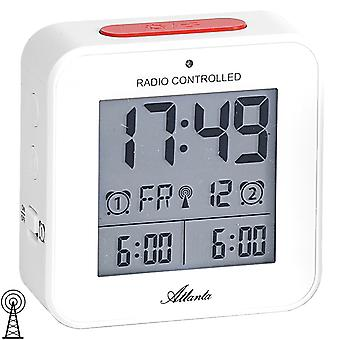 Atlanta 1880/0 alarm clock radio alarm clock digital white light snooze digital alarm clock