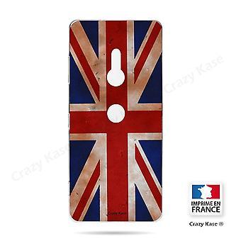 Hull för Sony Xperia Xz3 flexibelt mönster flagga Storbritannien Vintage