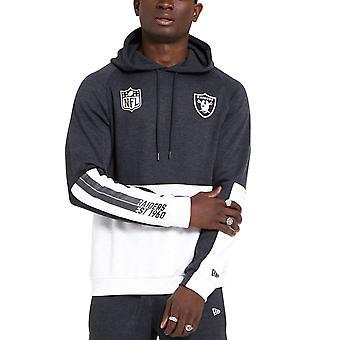 New Era COLOUR BLOCK Hoody - NFL Las Vegas Raiders charcoal