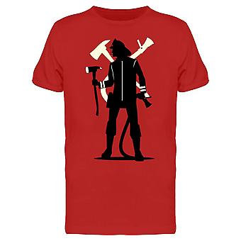 Firefighter Silhouette Tee Men's -Image by Shutterstock