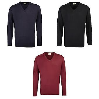RTY Workwear Mens V-neck Acrylic Sweater / Sweatshirt